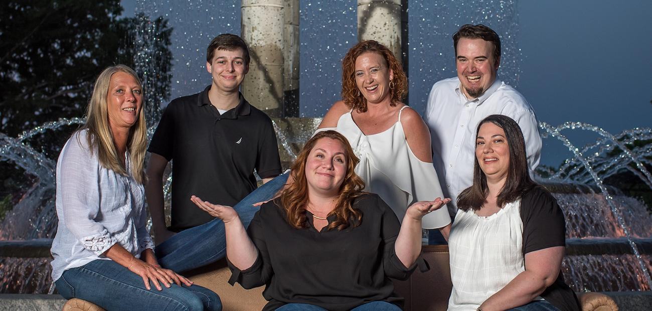 Shannon Brien, center, with The Douglas Realty Group team.