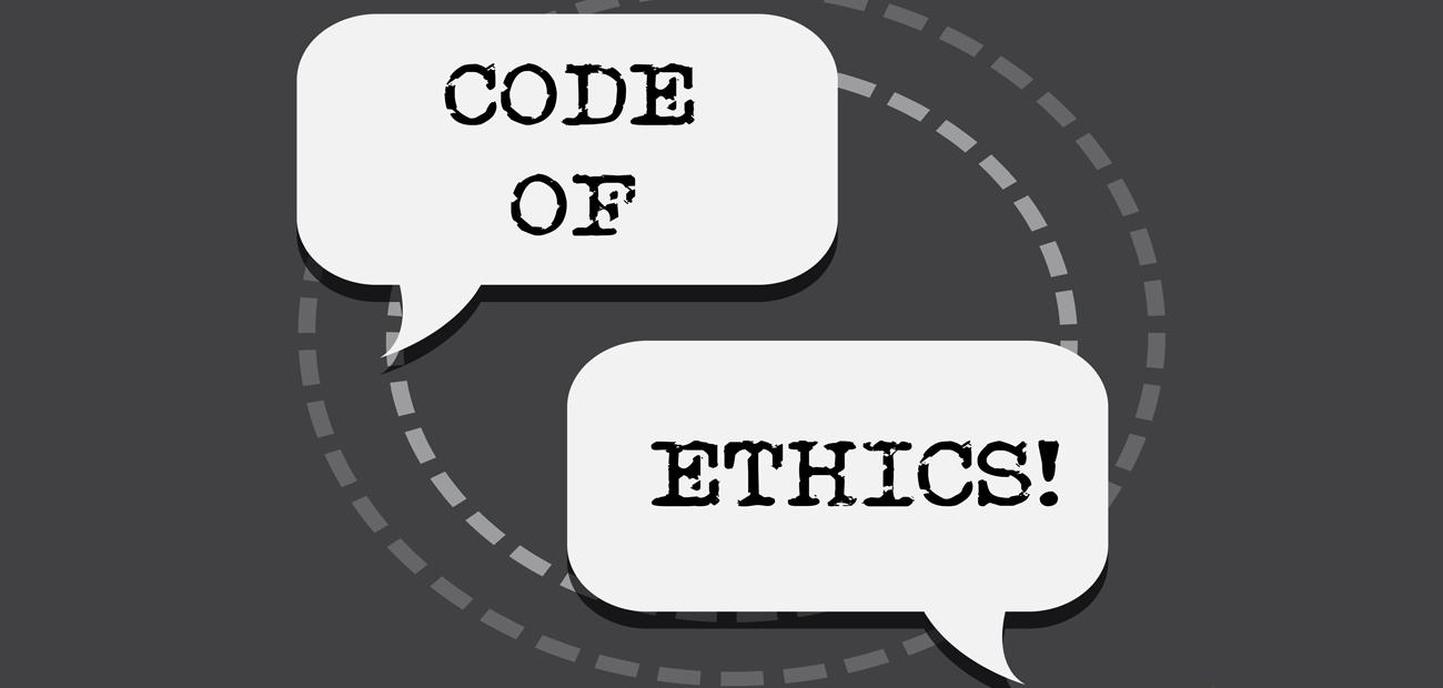 code of ethics speech bubbles