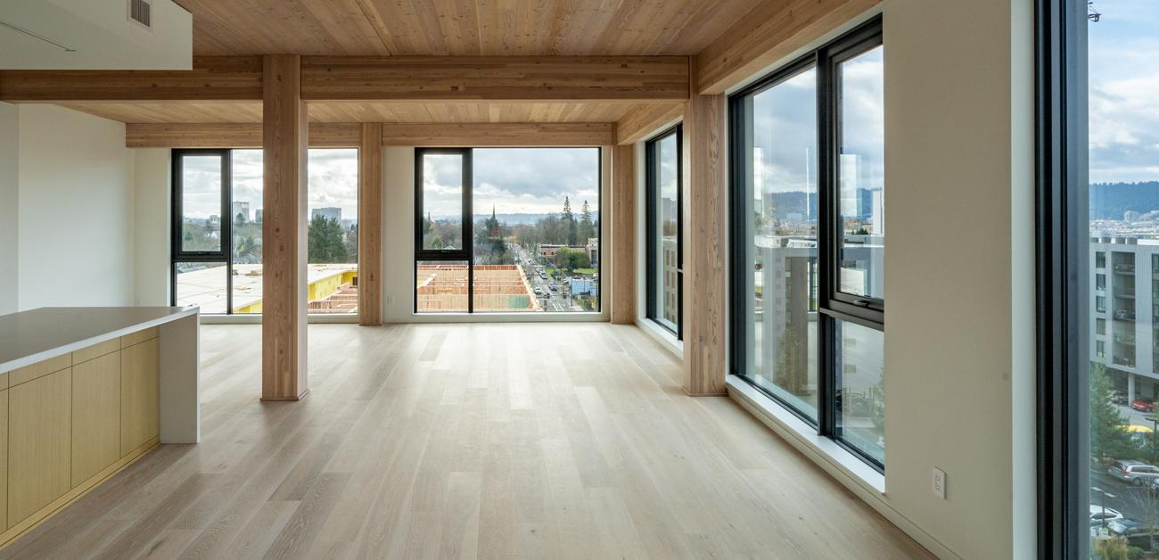 apartment constructed with mass timber