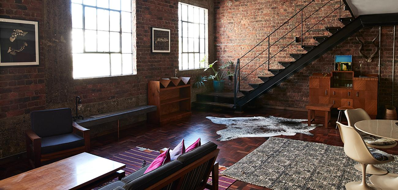 Interior of New York style loft