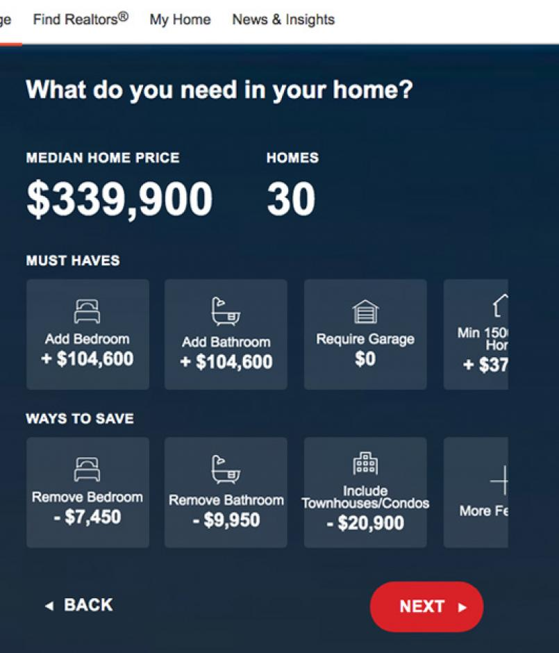realtor.com pricing app