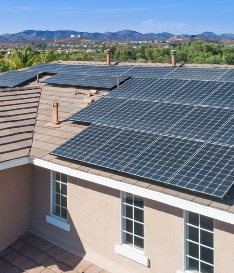 solar roof on home