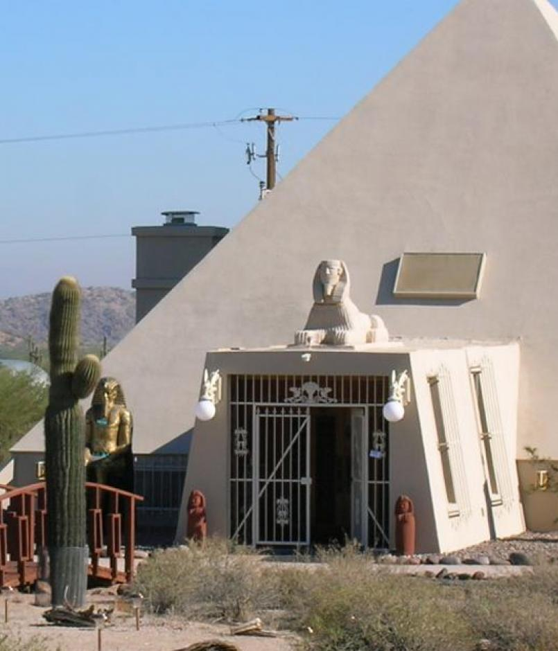 """Pyramid"" house outside of Phoenix, Ariz."