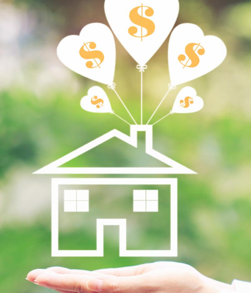positive home equity concept