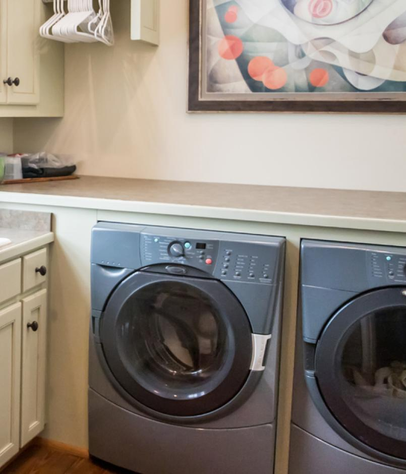 built out laundry room