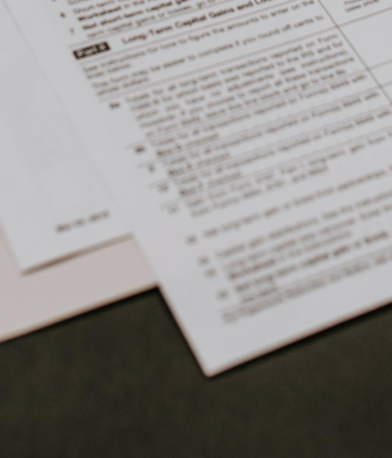 A US tax form on a desk