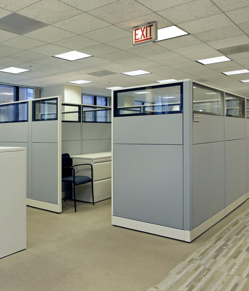 tall cubes in office