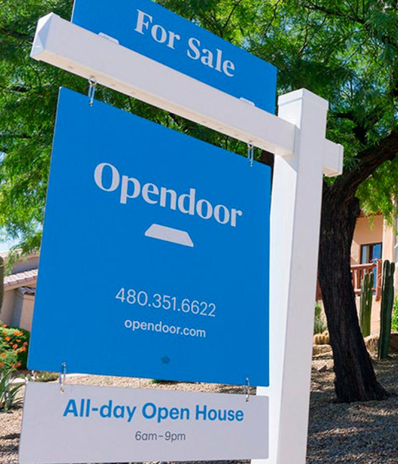 Opendoor sign by home for sale