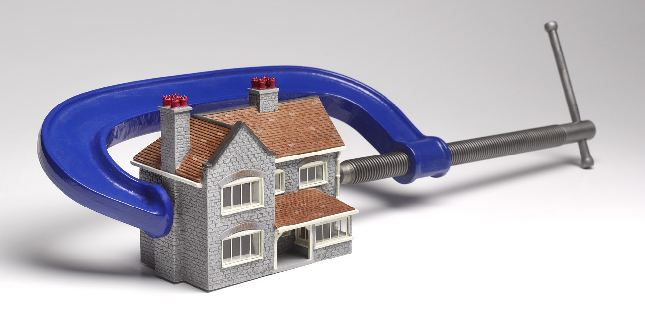 House in a financial clamp