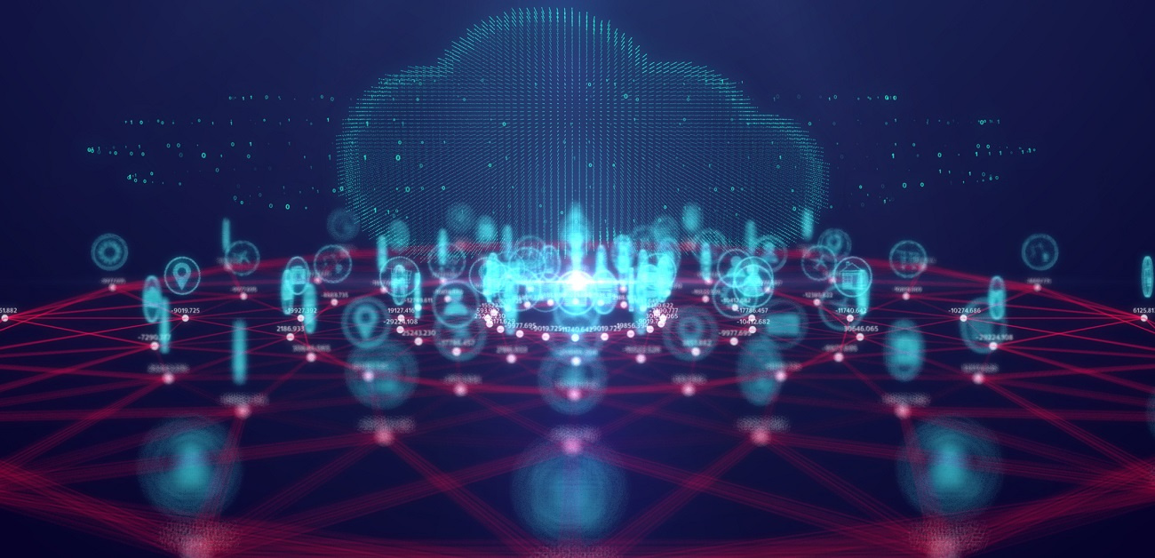 Cloud computing technology and internet of Things concept