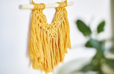 Macrame hanging on the wall