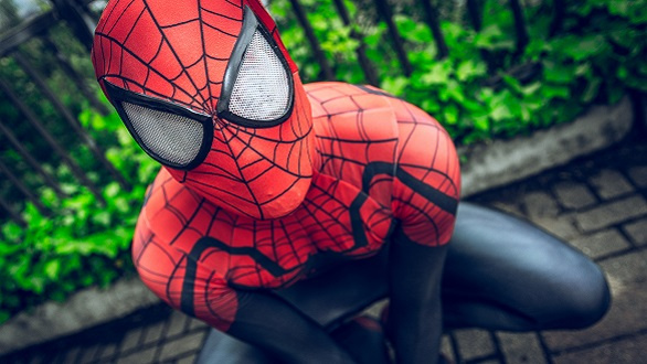 Cosplayer dressed as 'Spiderman' from Marvel