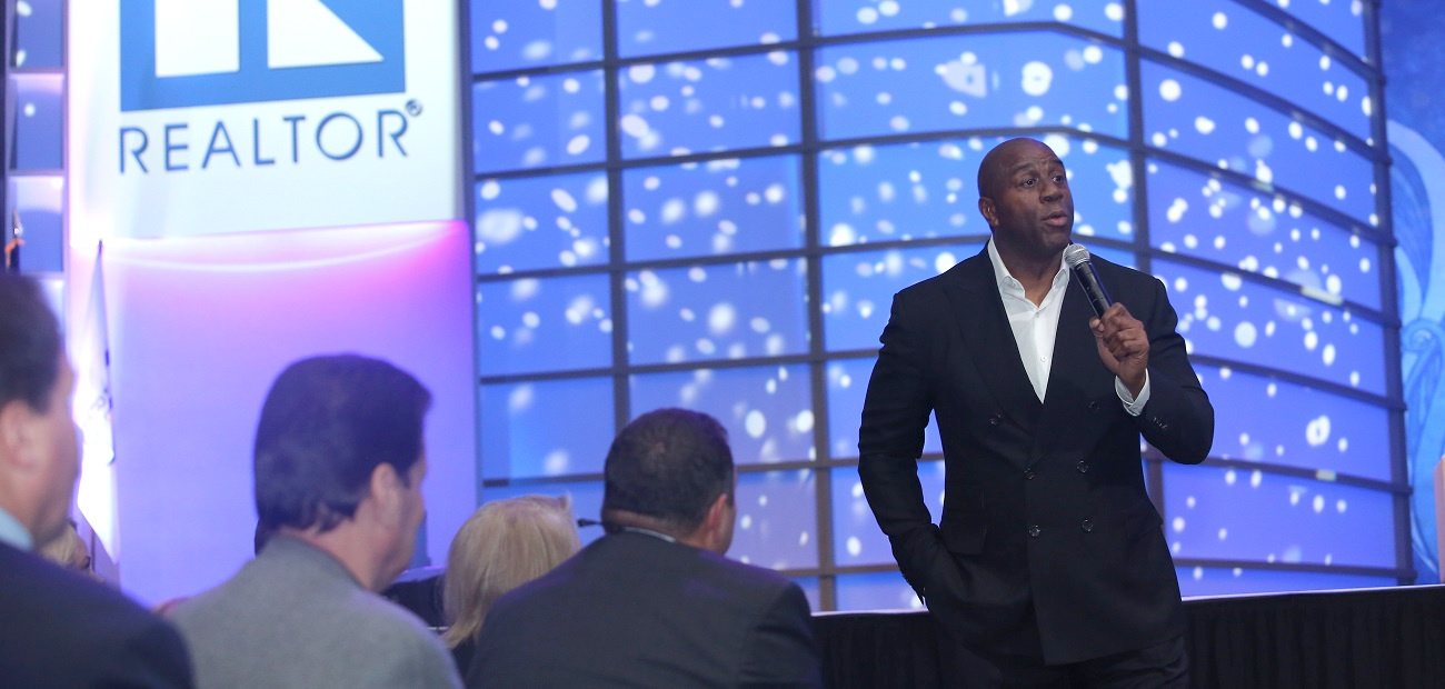 Magic Johnson at the General Session