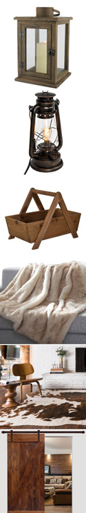rustic style decorative items - see product descriptions at left