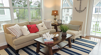room staged in coastal style