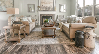 room staged in farmhouse style