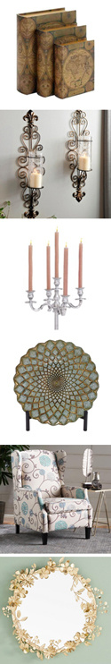 traditional style decorative items - see product descriptions at left