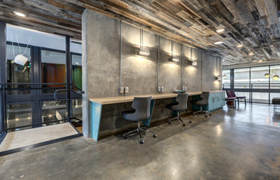 Broadstone Yards, co-working space by Rebecca Bockman for Alliance Residential