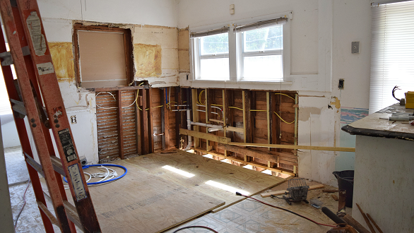 Interior of home under renovation