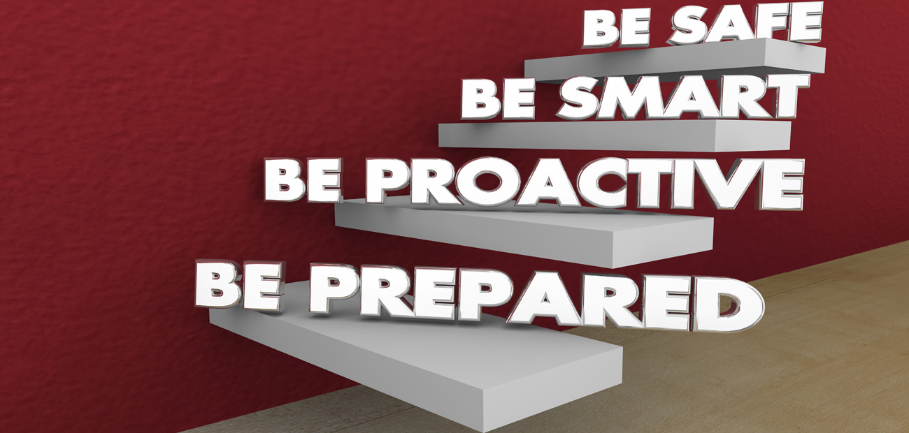 Be Prepared Proactive Smart Safe Steps 3d Illustration