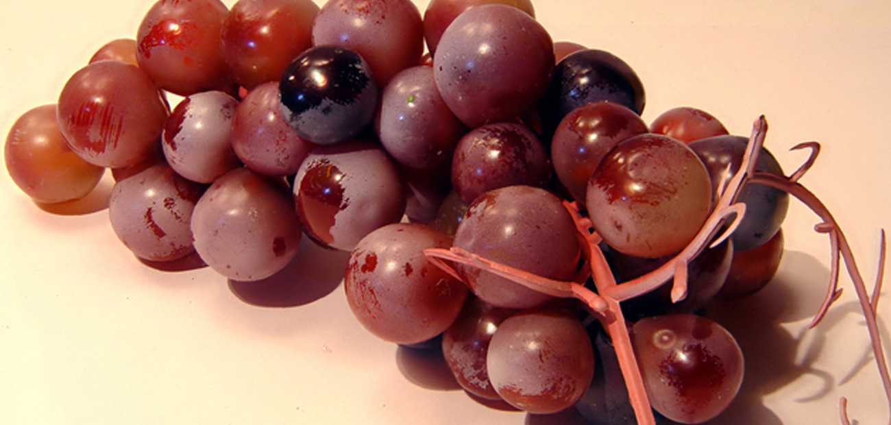 fake grapes