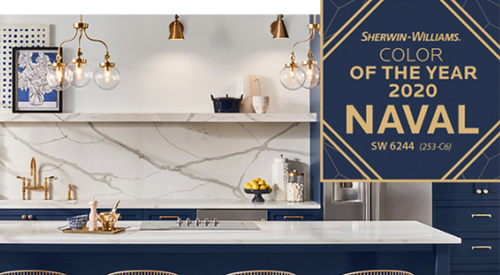 Sherwin Williams 2020 color of the year, Naval