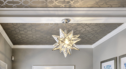 Fancy ceiling and light