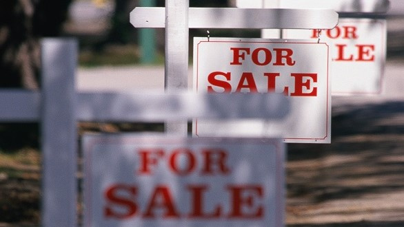 Three for sale signs in a row