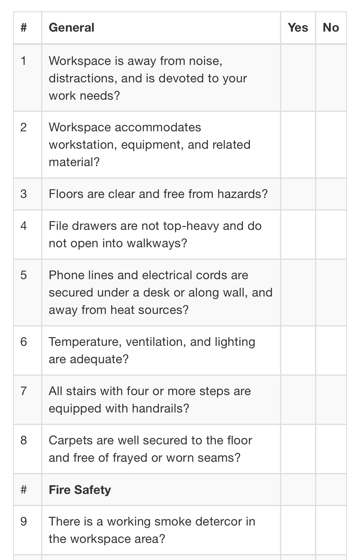 List showing common hazards. Visit source link at the end of this article for more information.