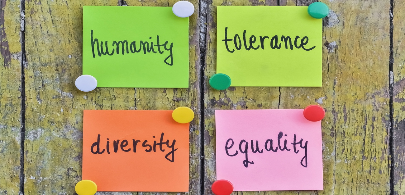humanity, tolerance, diversity, equality