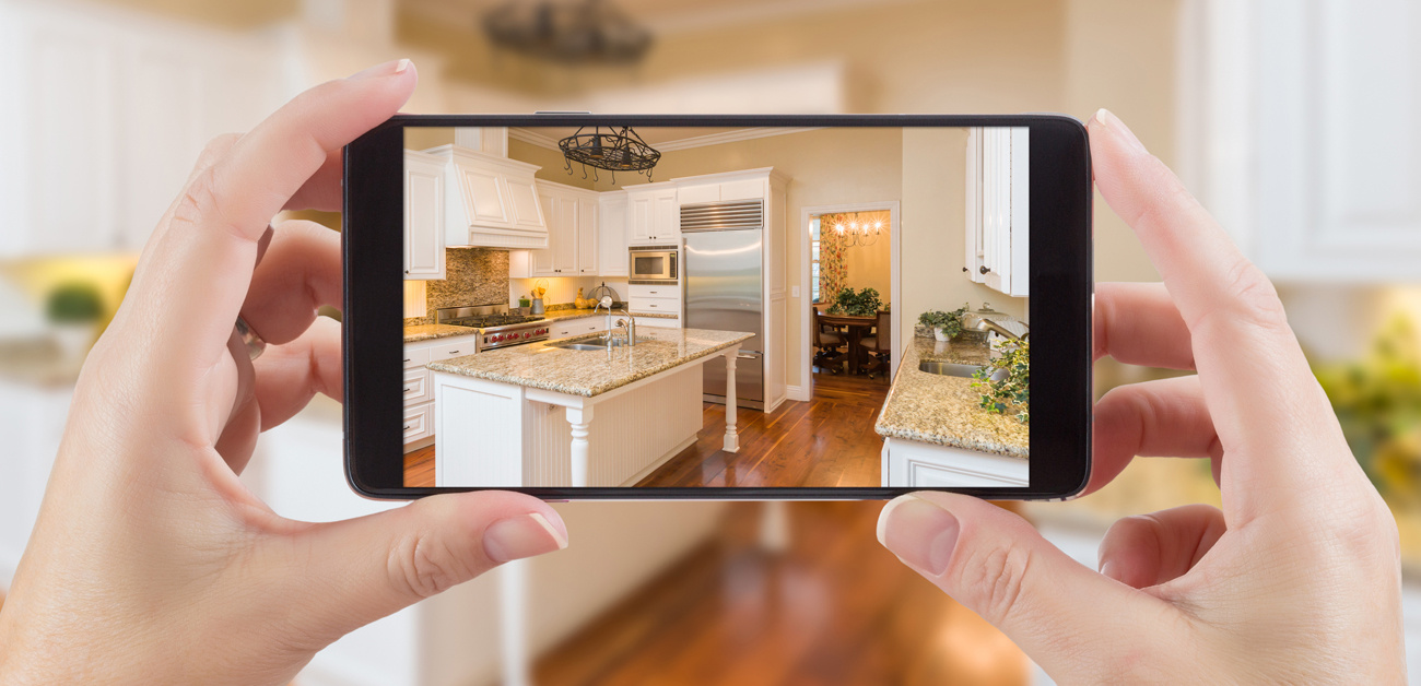taking video of kitchen on phone