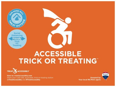 Accessible Trick or Treating sign
