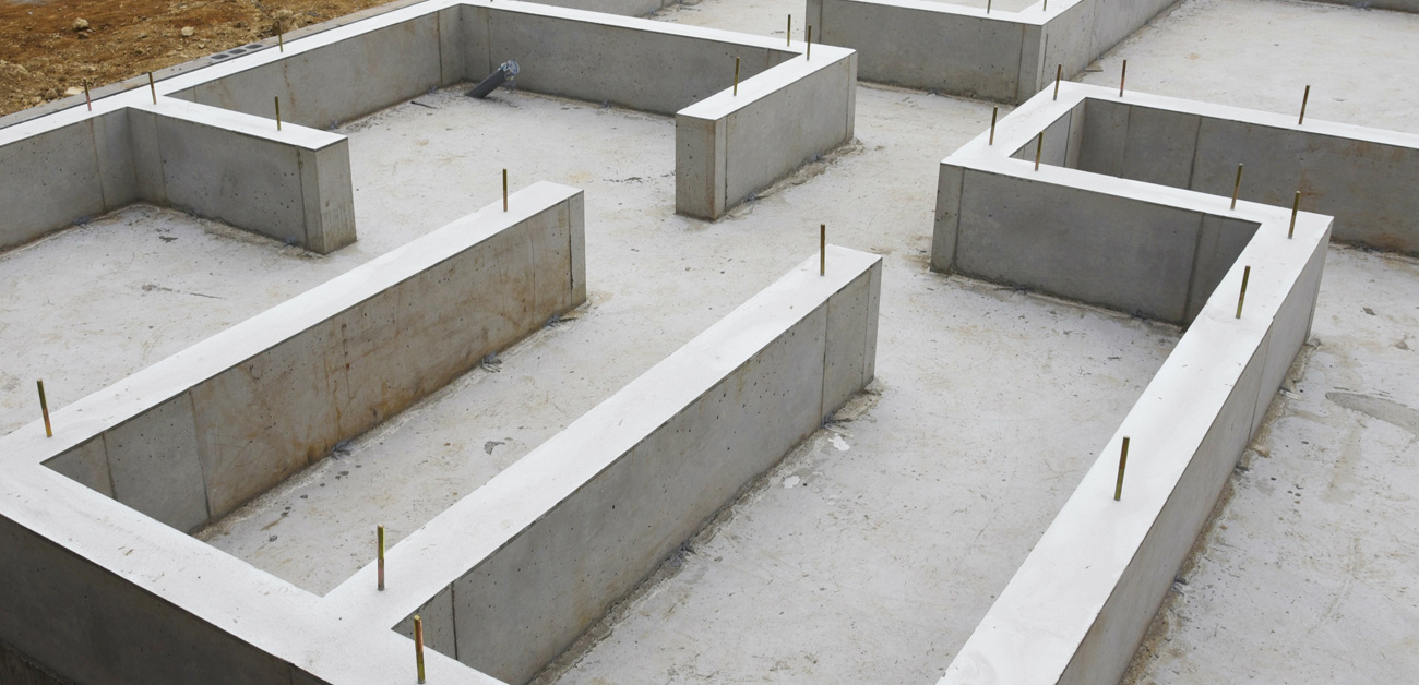 poured foundation for home