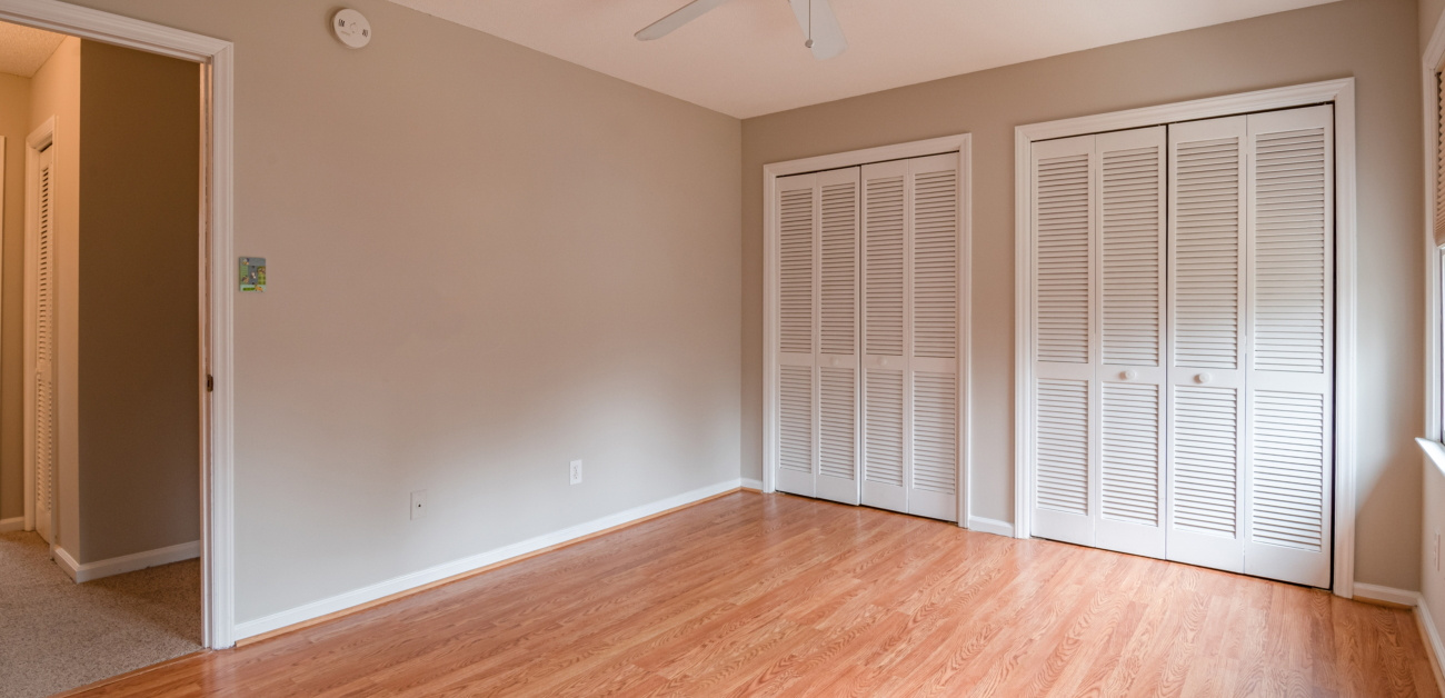 Room with generously sized closet space