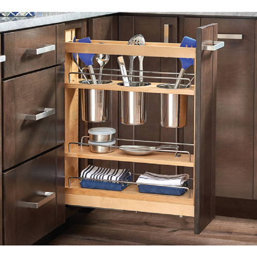 Specialized storage drawer for utensils
