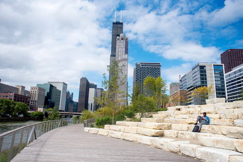 Southbank Park Ampitheater in Chicago
