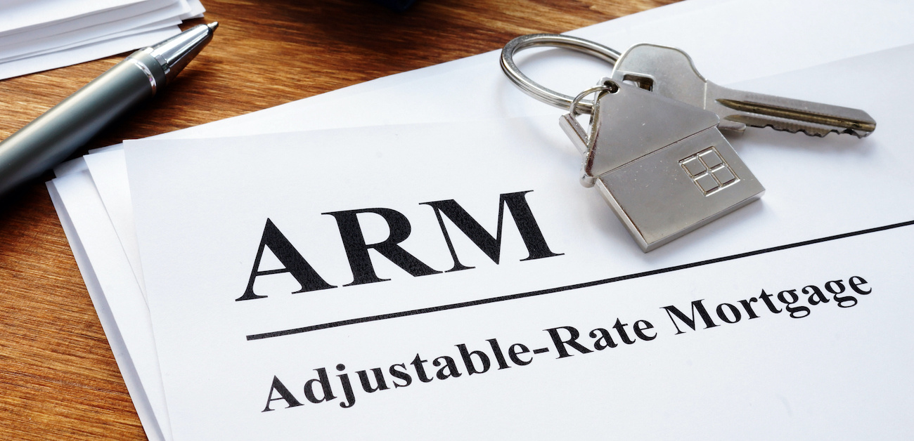Adjustable Rate Mortgage (ARM) papers in the office