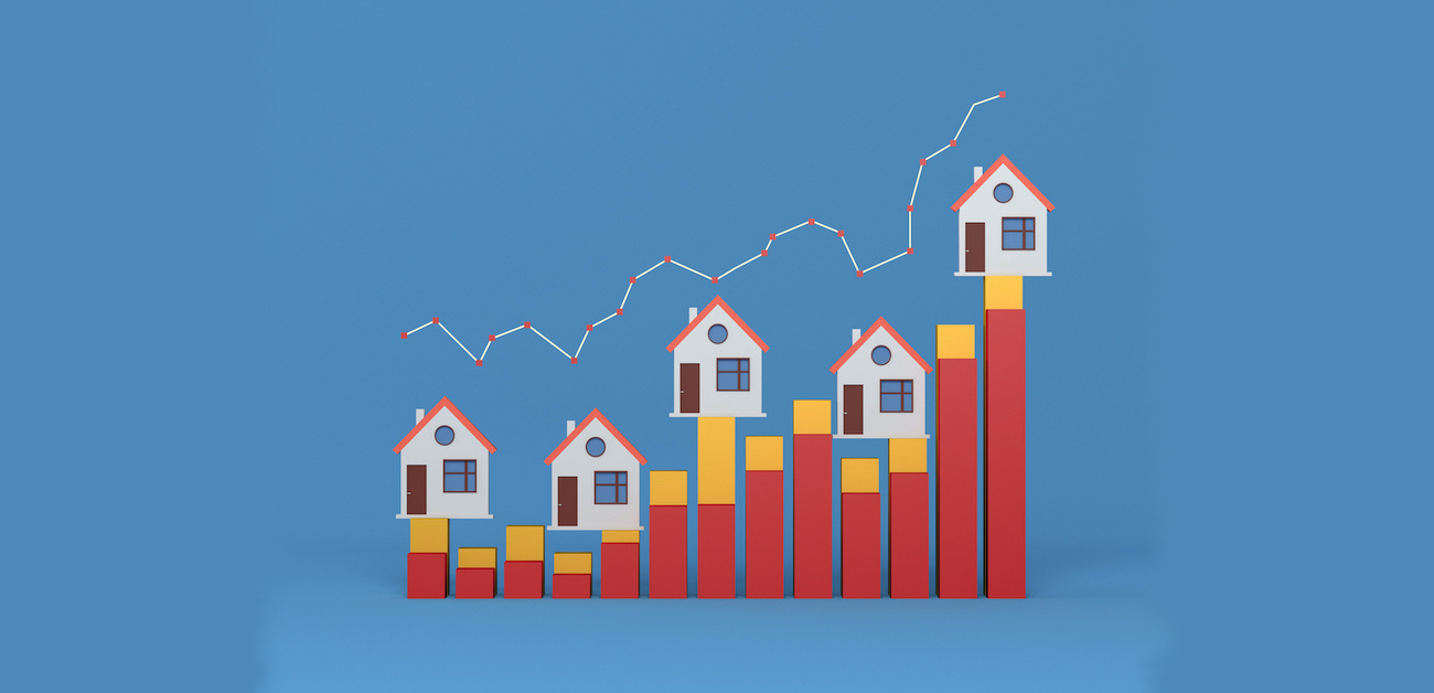 Real estate graph trending up