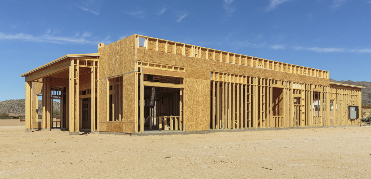 A partially completed home