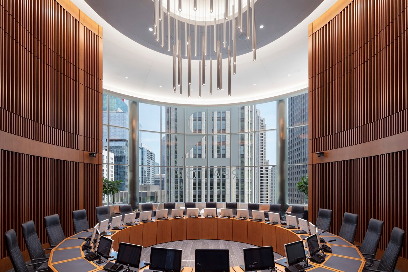 Boardroom at NAR's Chicago HQ Sky Level