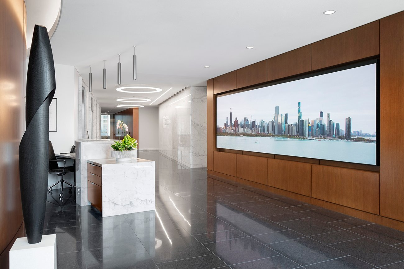 Reception area at NAR's Chicago HQ Sky Level