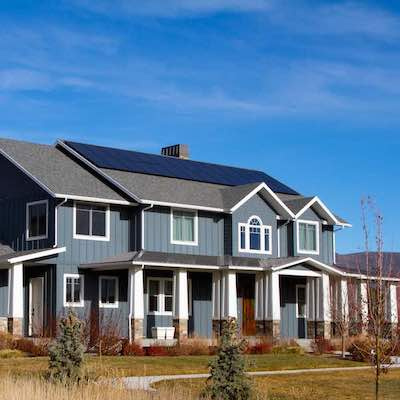 Utah home with solar panels