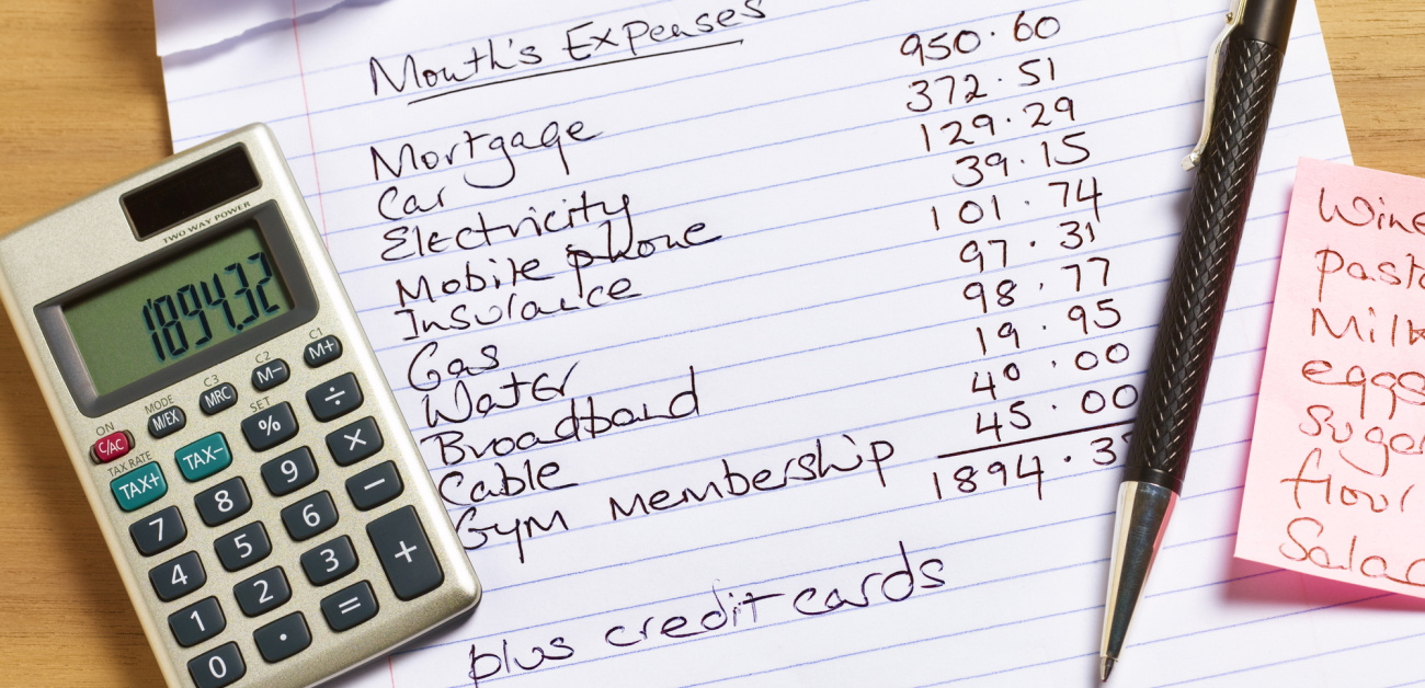 Calculator and budget notes