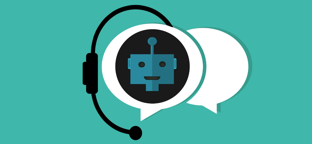 An illustration of a customer service chat bot icon for website visitors