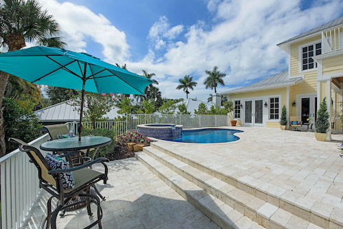 Naples, Florida home with patio and pool