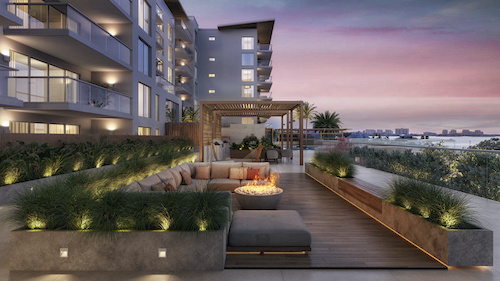 High-end multiunit waterfront building