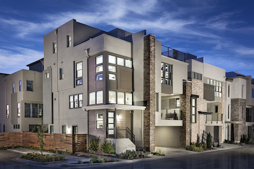 Infill townhouses rendering