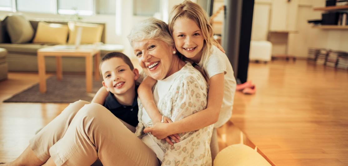 Grandmother and her grandkids