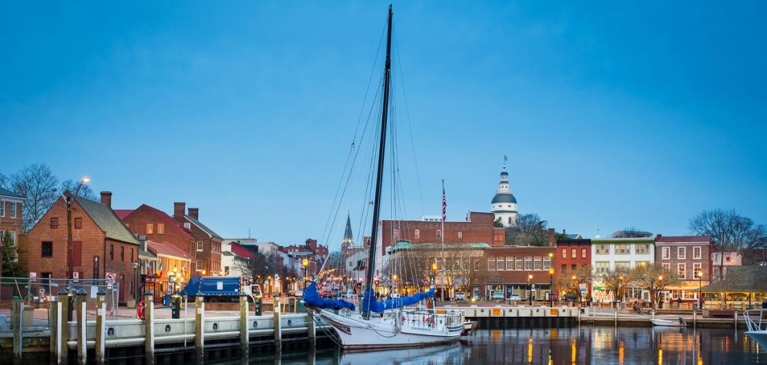 Annapolis city dock area