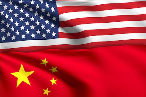 U.S. and Chinese flag